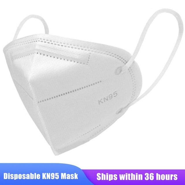 100pcs KN95 Masks Protective Dust Face Mask Flu Pm2.5 Filter Mask N95 Mask Respirator Antivirus Mask as KF94 FFP2 FFP3 1