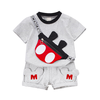 New Summer Baby Clothes Suit Children Fashion Boys Girls Cartoon T-Shirt Shorts 2Pcs/set Toddler Casual Clothing Kids Tracksuits new summer toddler baby boy clothing set cute t shirt shorts 2pc cute casual cartoon children boys clothes suit for kids outfit