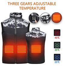 USB Heating Vest Winter Warm Jacket Heated Vest Charging Heating Vest Intelligent Electric Heating Vest Clothes Nov 18th cheap CN(Origin) Fits true to size take your normal size Hiking Vest None Polyester Thermal