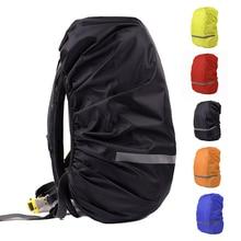 반사 라이트 방수 배낭 방진 비 커버 휴대용 초경량 숄더 가방 하이킹 가방 레인 코트 야외 도구