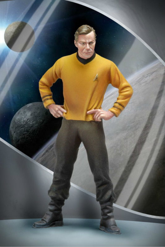 1:32 Resin Figure Model Kit Unassambled Star Trek 54mm Science Fiction Movie Character Captain Kirk Static Modelling DIY Toys image