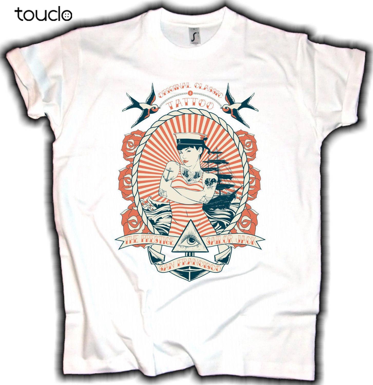 Sailor Tattoos Shirt Vintage Tattoo Shirt Rockabilly Shirt Hello Sailor T Shirt Retro Womens Black Short Sleeve Summer Shirt