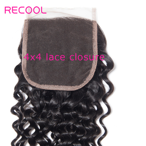 Image 5 - Recool Hair Curly Bundles With Closure 6X6 5x5 Lace Closure With Bundles Remy Brazilian Hair Weave 3 Bundles With Closure