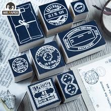 Mr.Paper 8 Designs Stamp Collector