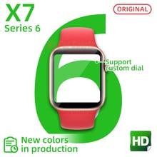 Smartwatch 2021 X7 smart watch serie 6 herz rate bluetooth Uhren anruf Männer frauen pk AMAZFIT iwo12 W26 T600 X6 G500S x16 W34