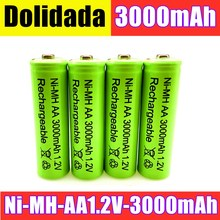 AA battery 3000 mAh Rechargeable battery NI-MH 1.2 V AA battery for Clocks, mice, computers, toys so on