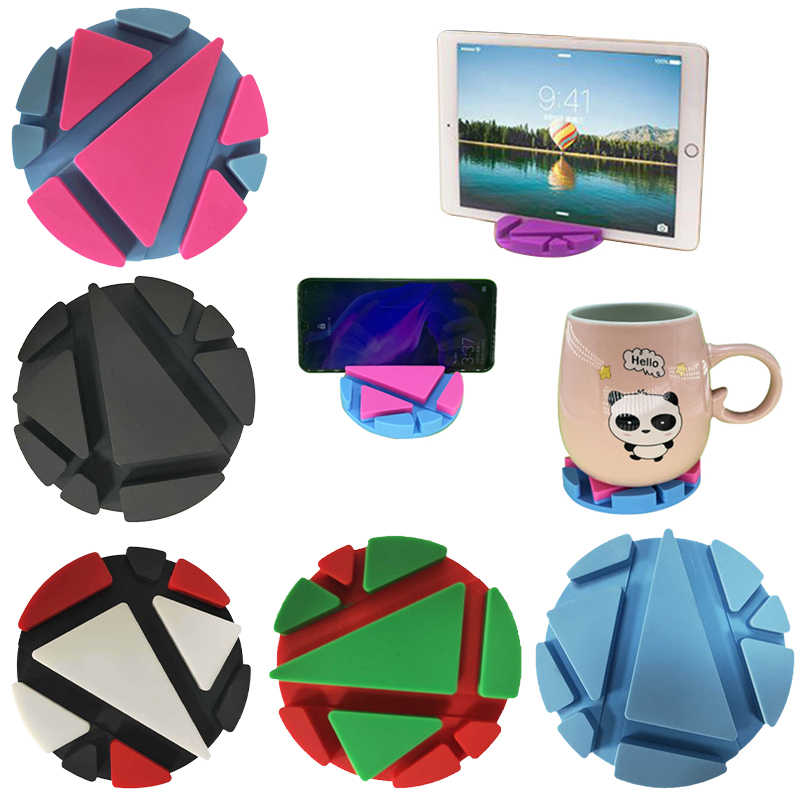 Multifunction Phone Holder Table Mat Silicone Cup Pad Desk Pen Card Mug Support Bracket Coaster VS Stand drink coasters