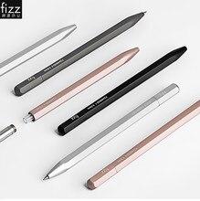 Caneta de gel de metal fizz com recarga para xiaomi canetas de gel poligonal liga de alumínio 0.5mm tinta preta para estudantes de escritório canetas de negócios