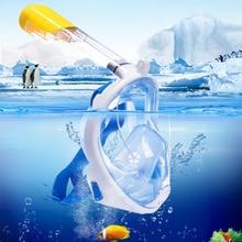 Underwater Scuba Diving Anti Fog Mask Set Snorkeling Full Face Mask Respiratory Masks Safe and Waterproof Swimming Equipment