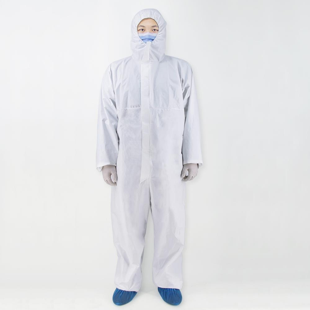 SMS Non-woven Waterproof Disposable Durable Isolation Safely Clothes, Disposable Overalls Protective Clothing Size: Free Size