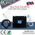 2G 3g 4G GSM DCS WCDMA 900 1800 2100 4G усилитель сигнала 80 дБ усиление GSM трехдиапазонный мобильный усилитель сигнала сотовый ретранслятор