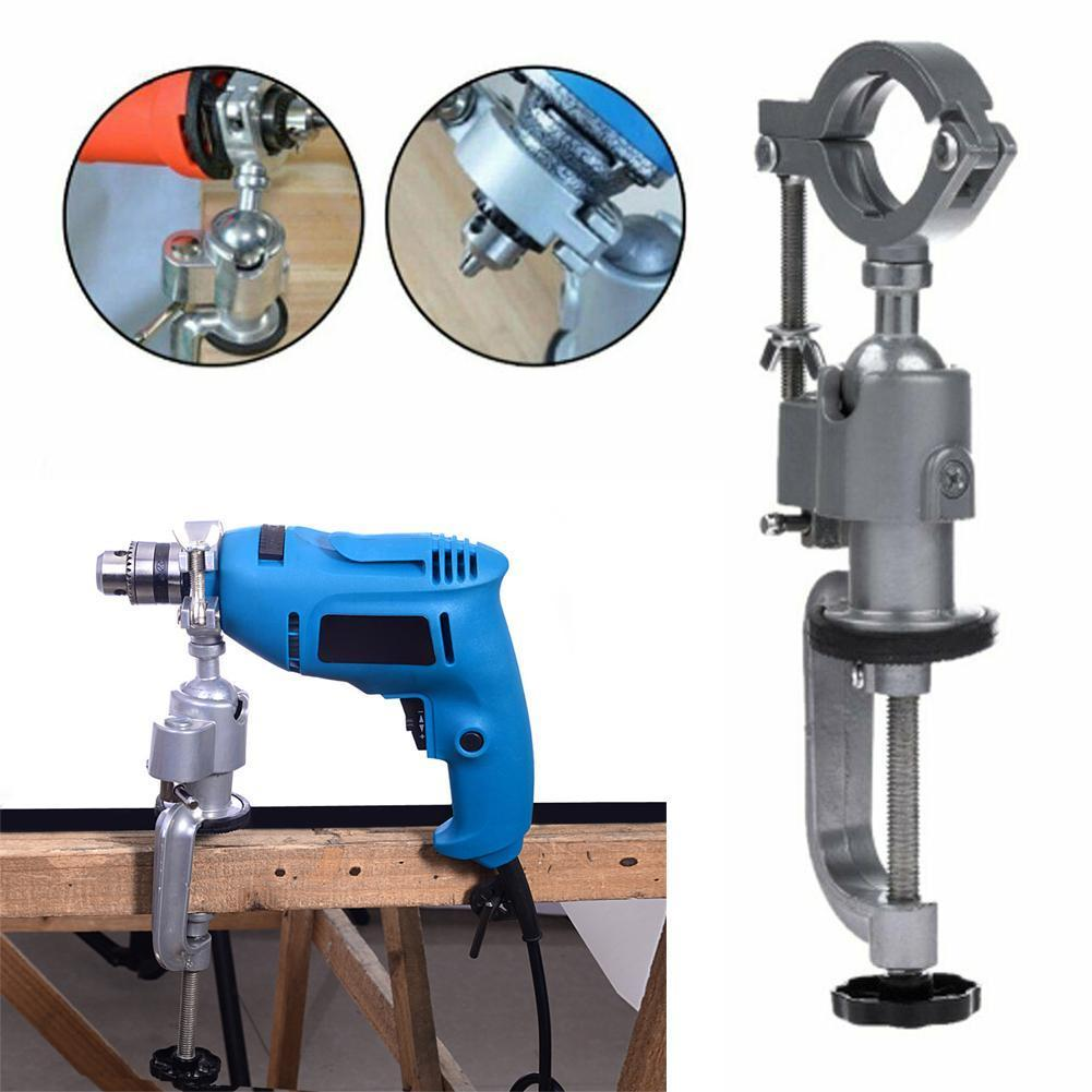 Portable Mini Electric Drill Grinder Holder Drill Stand Clamp Accessory Multifunctional Clamp Bench Universal Support Bench F6G5