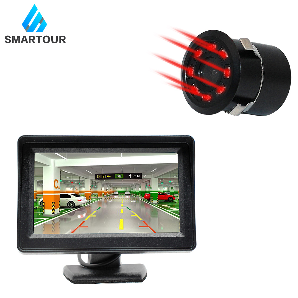 SMARTOUR Waterproof Car Rear View Camera with 4.3 inch Monitor and Night Vision HD Color Image for Easy Parking 1