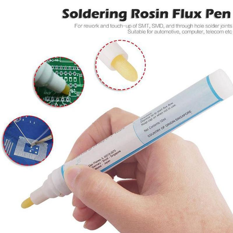 1pcs 951 Kester Cleaning-free Soldering Flux Pen Low-solids For Solar Cell & Fpc/pcb 10ml Capacity
