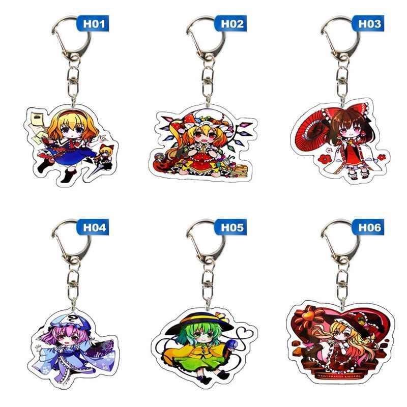 המובהקת Quintuplets Keychain אקריליק נאקאנו Ichika נינו Miku Yotsuba Itsuki חמוד Cartoon תליון Keyring