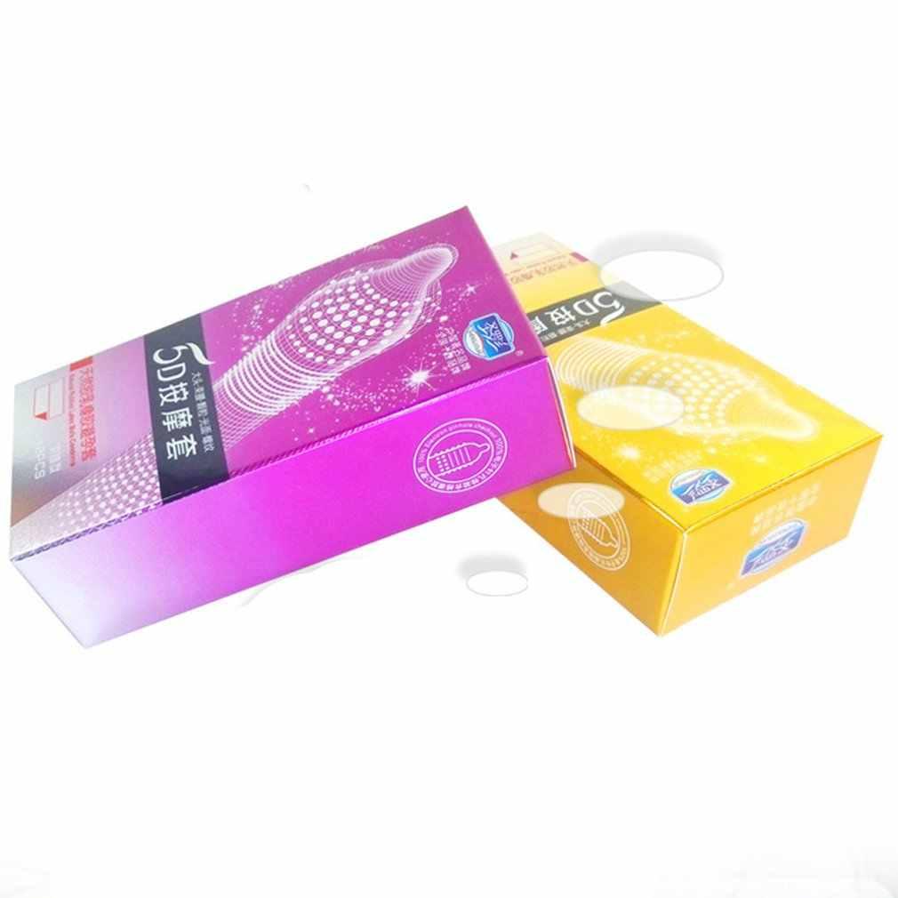 12pcs Premium 5D จุดด้ายถุงยางอนามัยสีสุ่มธรรมชาติถุงยางอนามัย Ultra บาง Penis Sleeve Contraception ของเล่นสำหรับผู้ชาย