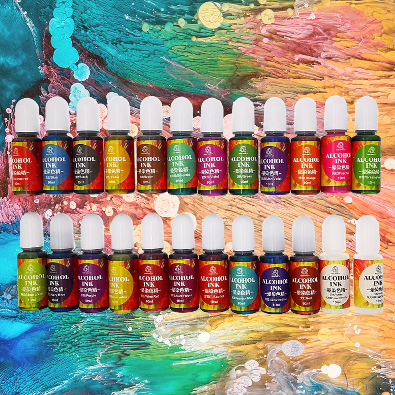 10ML Epoxy Resin Diffusion Pigment 10ML Epoxy Resin Pigment alcohol ink Liquid Colorant Dye Ink Diffusion Resin Jewelry Making