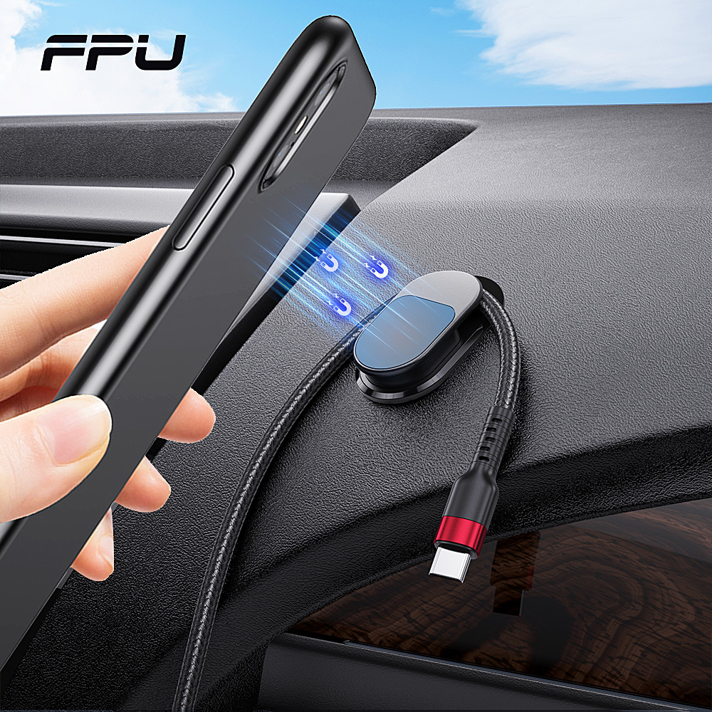 FPU Magnetic Car Phone Holder For Mobile Car Mount Magnet Phone Holder GPS Stand Support For iPhone 11 Pro XS MAX Xiaomi in Car