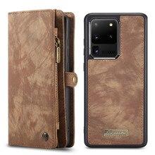 Skórzany portfel etui na telefony dla Samsung Galaxy S20 Ultra S10 S9 S8 S7 krawędzi uwaga 20 10 Plus A21S A51 A71 A20 A30 A40 A50 A70 pokrywa