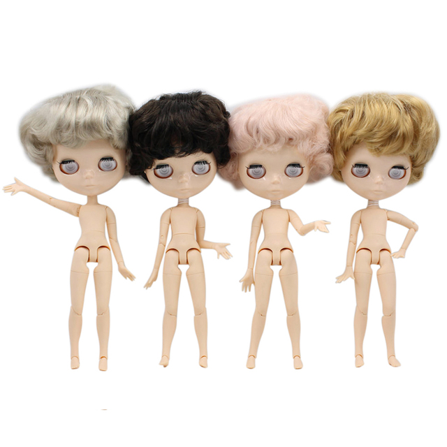 ICY Factory blyth doll white skin boy doll male body without makeup without eyechips short hair 1/6 joint neck
