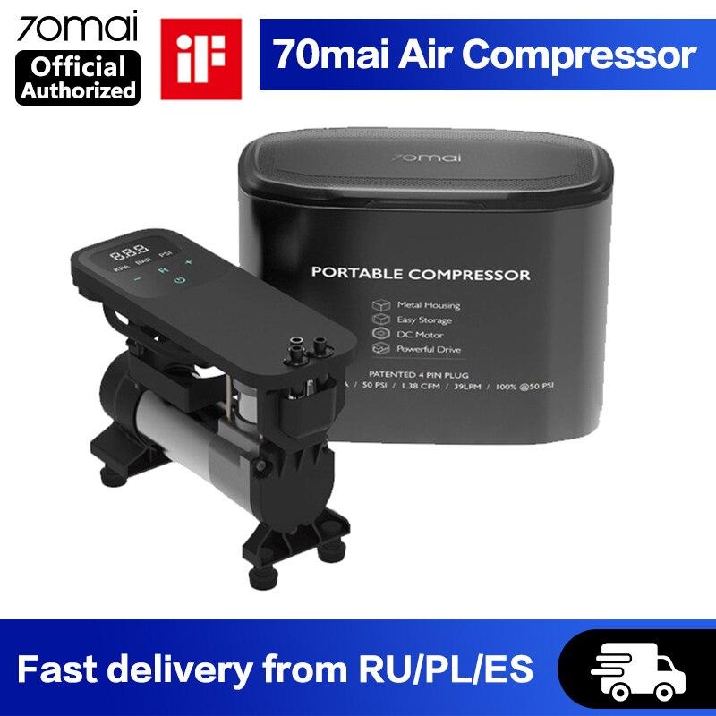 Pompe /à air num/érique Portable /électrique Compresseur Voiture Pompe pneus avec /écran LCD pour Voiture V/élo Balles de Moto gonfleur