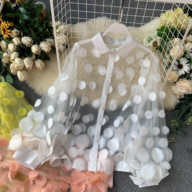 Women's Spring Autumn Shirt Female Pure Color Casual Shirt Long Sleeve Chic Single Breasted Blouse TB3365