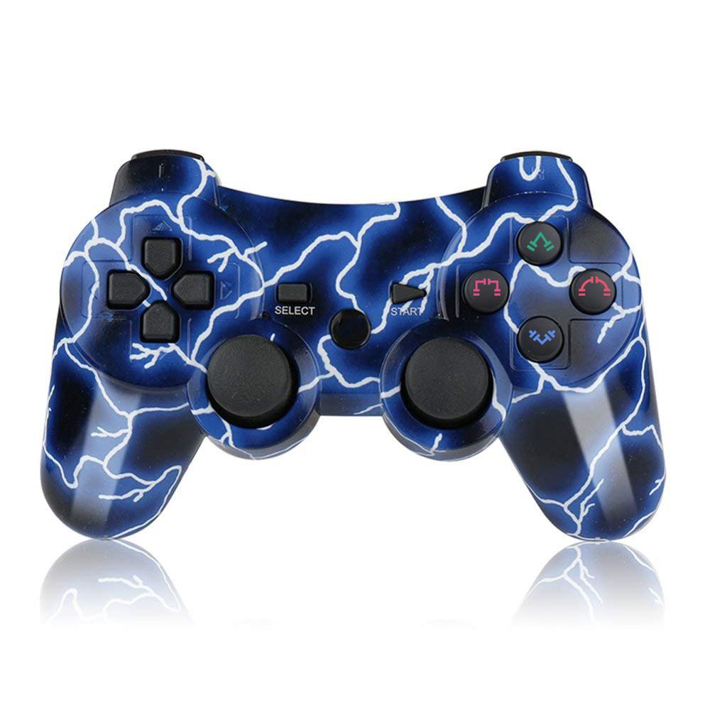 PS3 Controllers for Playstation 3 Dualshock Six-axis, Wireless Bluetooth Remote Gaming Gamepad Joystick Includes USB Cable
