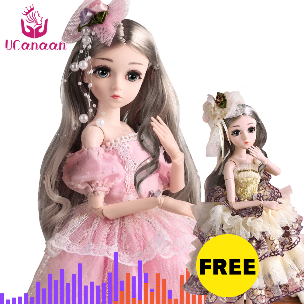 (BUY 1 GET 1 FREE) BJD Doll,1/4 SD Dolls 18 Ball Jointed Dolls with Clothes Outfit Shoes Wig Hair Makeup Best Gift for Girls image