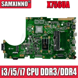 For ASUS X756UA X756UAK X756UAM X756UV X756UJ X756UQK X756UVK Loptop Motherboard Mian board Mianboard W/ i3/i5/i7 CPU w Kable i złącza do komputera od Komputer i biuro na