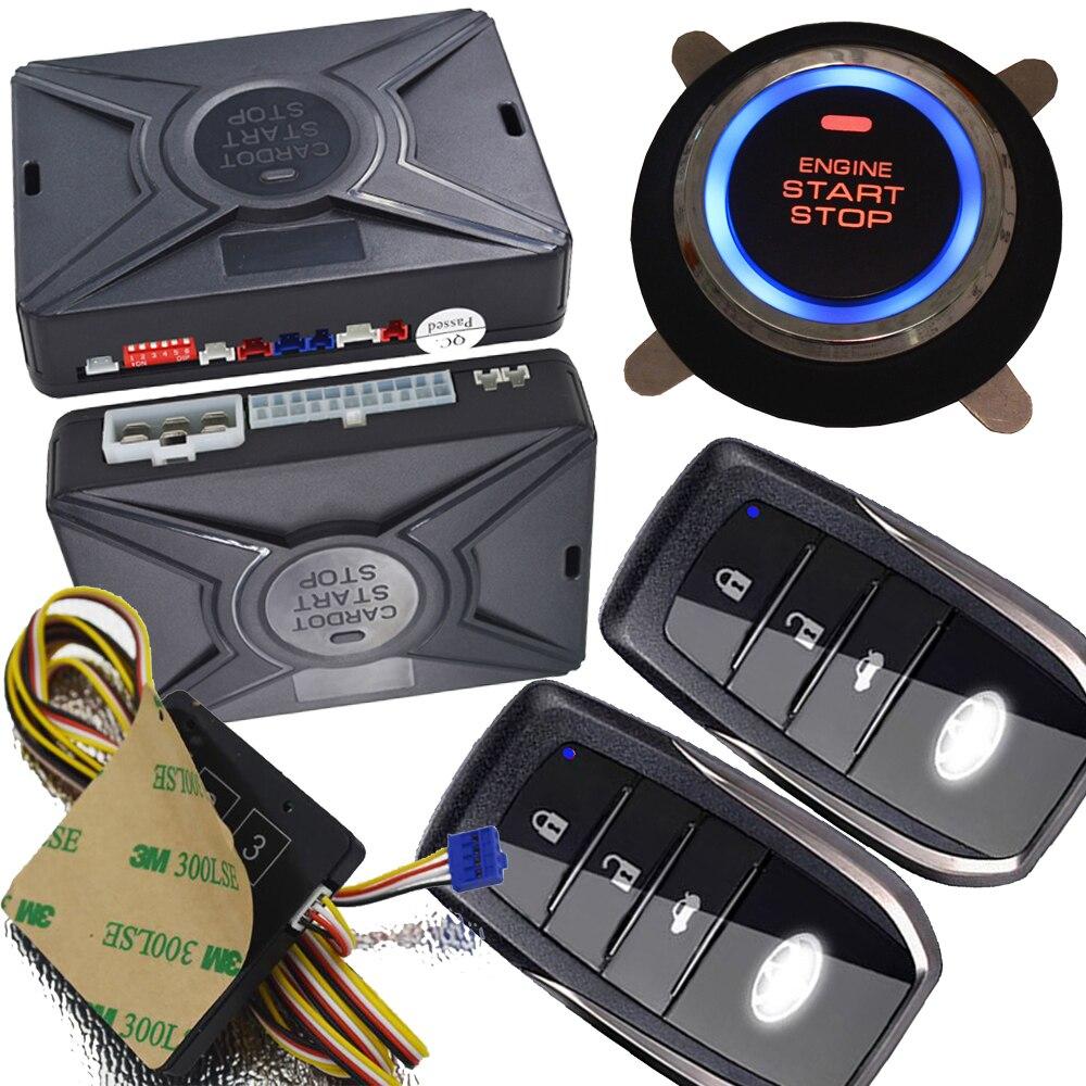cardot one way push button starter smart security system car alarms