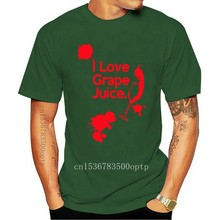 I Love Grape Juice - Mens T-Shirt - Funny Wine Alcohol - 13 Colours T Shirt Cotton Men Short Sleeve Tee Shirts Black Style