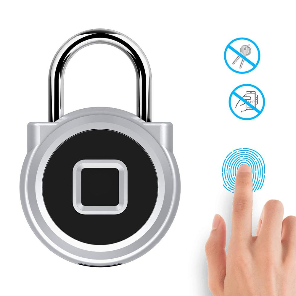HONTUSEC Fingerprint Padlock With USB Charging,Keyless Lock Suitable For Sports,Backpack,Gym Locker,Toolbox,Luggage