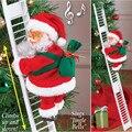 Электрическая кукла Санта-Клаус с лестницей для скалолазания, Рождественское украшение, подвесное Рождественское украшение для елки, рожд...