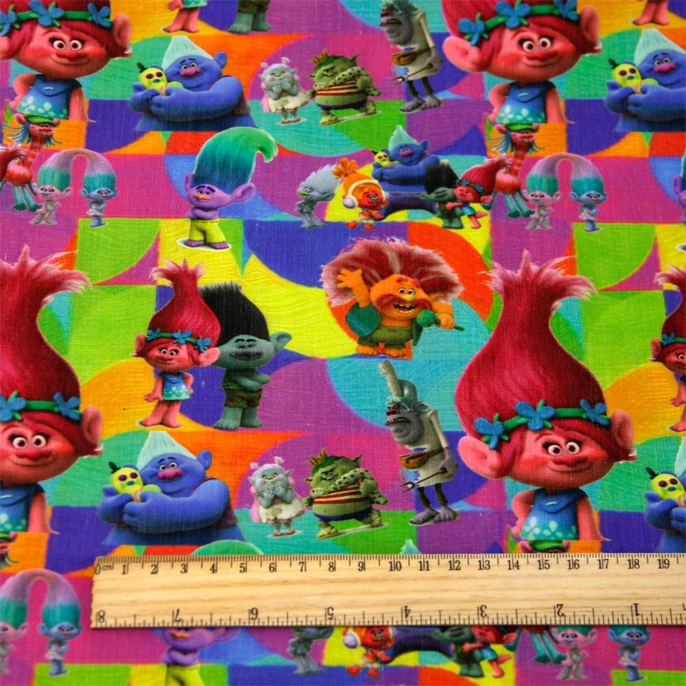 50*140 см мультфильм дизайн полиэстер хлопок ткань для ткани дети девочки платье Домашний текстиль для шитья ремесла, c2445 - Цвет: 1053989001