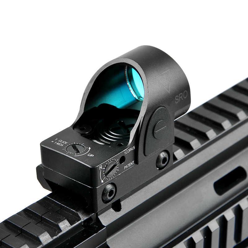 Mira telescópica táctica SRO de punto rojo 2,5, MOA especializada, réflex, punto rojo, ajuste óptico ajustable, Riel de 20mm para colimador Glock / Rifle