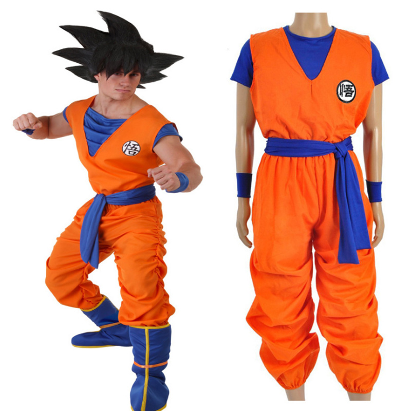 Halloween Dragon Ball Z Son Goku Turtle SenRu Wig Shoes Cosplay Costume Boys Adult Costume For Kids Party Uniform Dress New Year