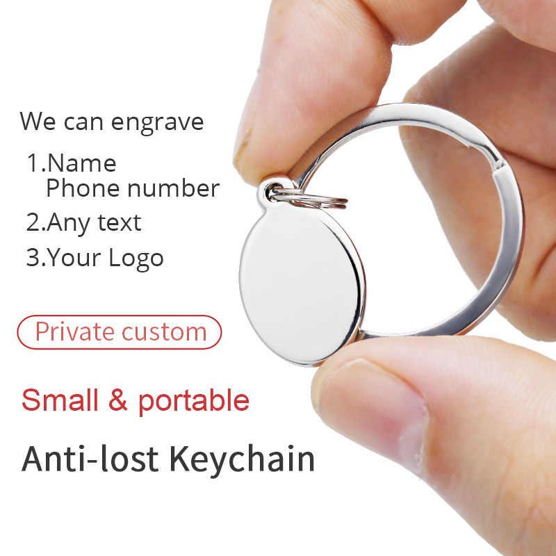 Custom Lettring พวงกุญแจสำหรับรถยนต์โลโก้แกะสลักชื่อส่วนบุคคลของขวัญที่กำหนดเองสแตนเลส Keyrings Key Chain แหวน P010