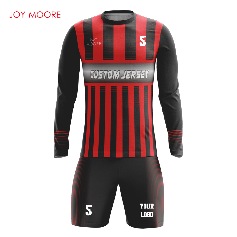 black and red youth football jerseys