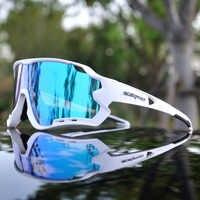 Lunettes de soleil à miroir intégral pour hommes lunettes de cyclisme pour Sports lunettes de cyclisme vélo lunettes de cyclisme UV400 3 lentilles