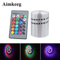 Aimkeeg Led Wall Lamp Spiral Effect Light Spiral Hole Led Modern Wall Lights for Home Game Room Bar KTV Decoration