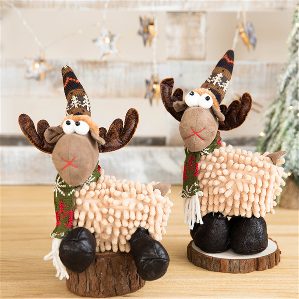 Stuffed & Plush Animals Christmas Elk Doll Toys Xmas Deer Ornament Soft Stuffed Pillow Plush Toy Gifts Stuffed Animals & Plush