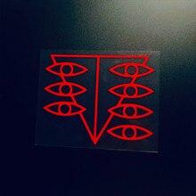 Etiqueta do carro vinil auto janela corpo decalques para seele olhos animie comitê de conclusão humana