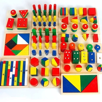 Children's Three-Dimensional Puzzle Toy Attractive Educational  Baby Wooden Learning Geometry Shape Montessori Toys