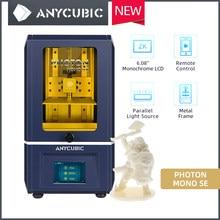 Anycúbico fóton mono se 3d impressora 2k monocromático tela lcd sistema de refrigeração uv impressão rápida sla kit impressora 3d impressora 3d impresora 3d