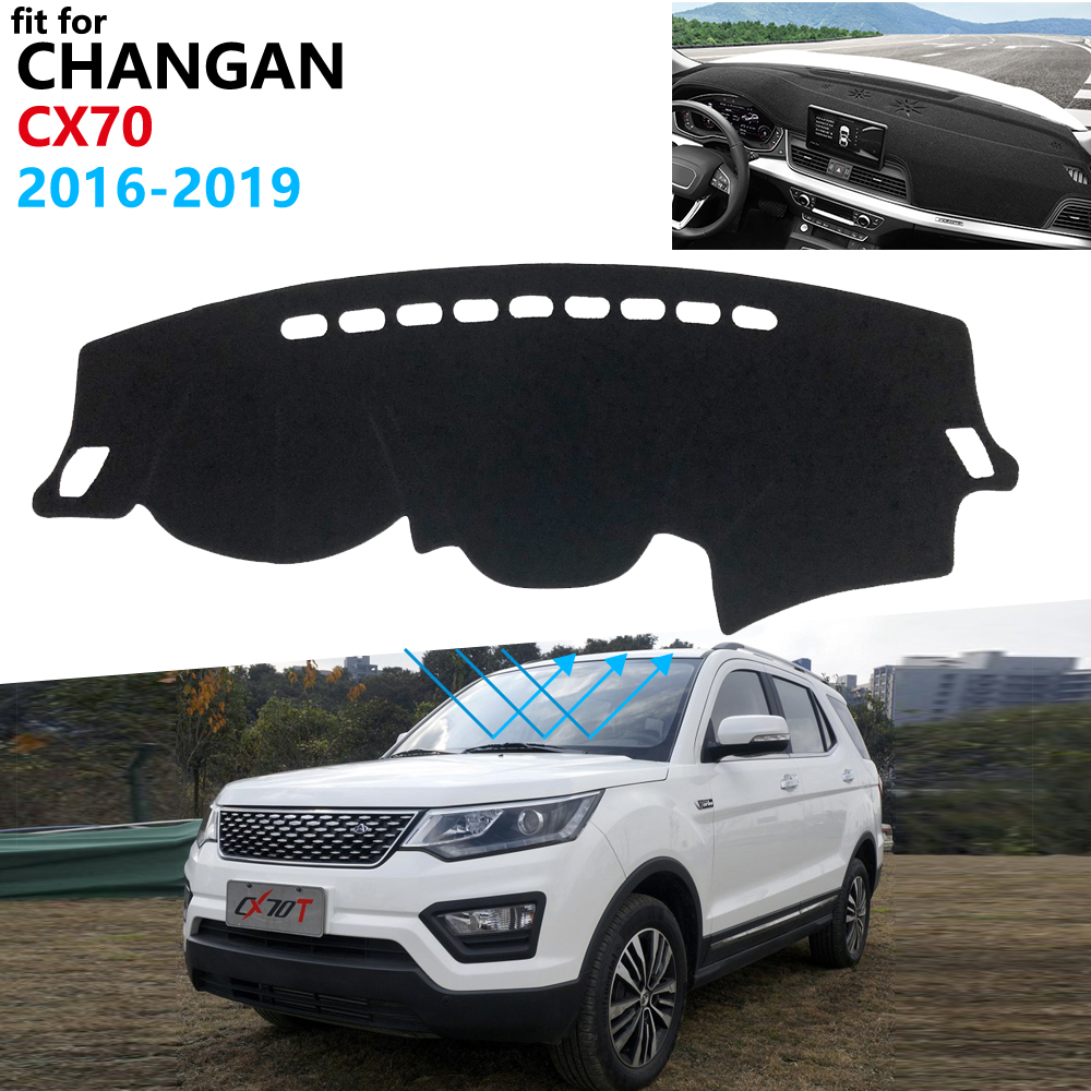 Dashboard Cover Protective Pad For Changan CX70 2016 2017 2018 2019 Car Accessories Dash Board Sunshade Anti-UV Carpet Dashmat