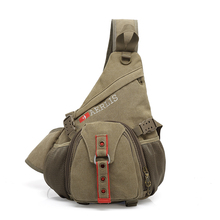 AERLIS Men Messenger Crossbody Bag Handbag Canvas Teenagers Travel Triangle School Satchel Chest Sling Shoulder Bags Male 6212