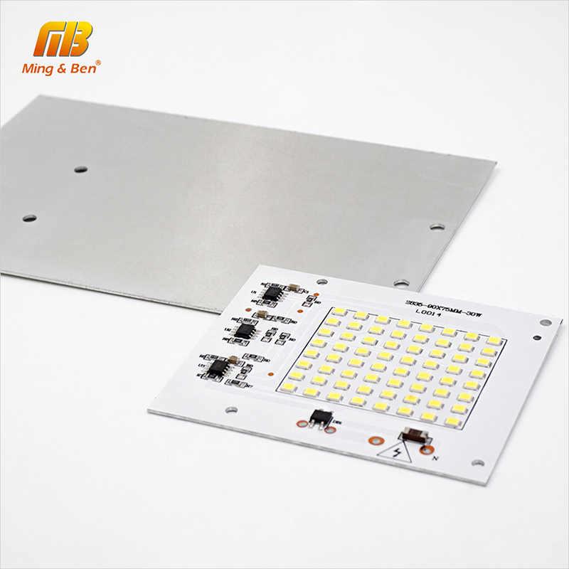 DIY светодиодный SMD чип лампа 10 Вт 20 Вт 30 Вт 50 Вт 100 Вт светильник-чип ac220в вход непосредственно Smart IC подходит для наружного светильник Холодный белый Теплый белый