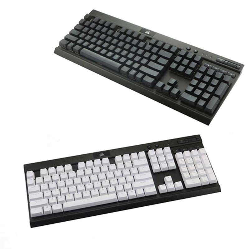 PBT Double Shot Backlit 104 Top-lit Shine Through Translucent Backlit keycaps For Corsair K70 K65 K95 RGB Mechanical Keyboard(China)