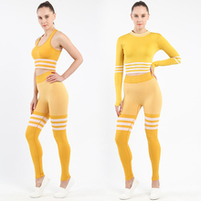 Workout Clothes Seamless Yoga Set Sport Clothing Gym Tight Sport Women Sportswear Running Set Bra Long Sleeve Clothes Yoga Pants women yoga set tai chi kungfu meditation uniforms linen chinese traditionl loose wide yoga pant yoga shirt casual outfit set
