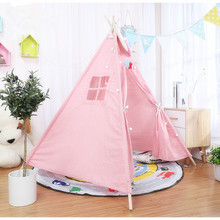 11 Types Kids Tent Play Large Teepee With Mat Outgoing Toys Portable Childrens Room Decor Canvas Original Triangle Tipi